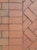 Red Brick In Three Patterns Stock Photography