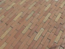 Red brick tile floor background Stock Photo