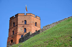 Red brick tower. As a part of city walls Royalty Free Stock Photo