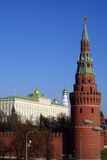 Red brick tower in Moscow Royalty Free Stock Photos