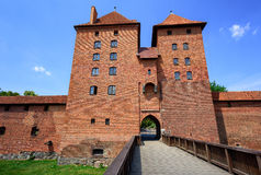Red brick towers of the Teutonic Order Castle, Malbork, Poland Royalty Free Stock Images
