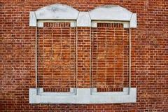 Red brick virtual windows Stock Images
