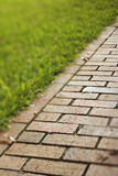 Red Brick Walkway Stock Photo