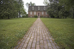 Red brick walkway leading to Smith's Fort Plantation Royalty Free Stock Photo