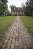Red brick walkway leading to Smith's Fort Plantation Stock Image