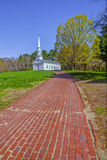 Red Brick Walkway Leads To The Martha Mary Chapel Stock Image