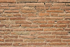 Red brick wall. The obsolete red brick wall Stock Photos