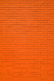 Red brick wall. Vertical wall from modern red bricks with small seam Royalty Free Stock Images