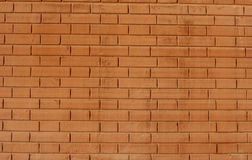 Red brick wall. Background, solid red brick wall Stock Photo