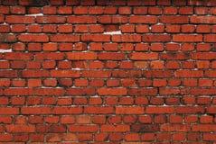 Red brick wall. Old wall made of red bricks Stock Photo