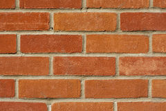 Red Brick Wall. Closeup of red brick wall suitable for use as background royalty free stock photos