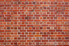 Red brick wall. Close up photo of a red brick wall Stock Photography