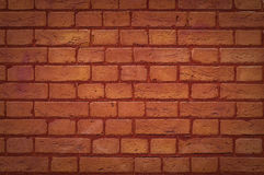 Red brick wall. Landscape background pattern Stock Photography