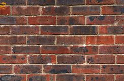 Red brick wall. A red brick wall as a background texture Royalty Free Stock Images