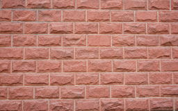 Red brick wall. Looks new.It's suit for wallpaper Stock Photos