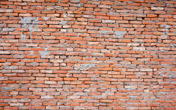 Red brick wall. It looks very old.Suit for background Stock Photo