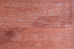 Red brick wall. Close-up on the red brick wall stock photo