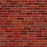 Red brick wall Stock Images