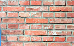 Red brick wall. A wall made of red bricks Stock Photography