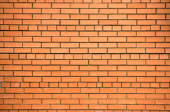Red brick wall. Background outside of the house Stock Images