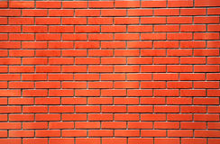 Red brick wall. For nice background or textures Royalty Free Stock Photo