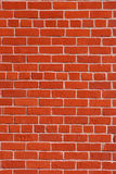 Red Brick Wall. With light cement in between Stock Image