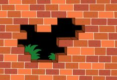 Red brick wall. Vector illustration stock illustration