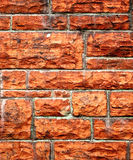 Red brick wall. Close up of old red brick wall Royalty Free Stock Photos