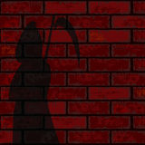 Red Brick Wall And Death Stock Photos