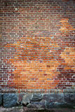 Red brick wall background Royalty Free Stock Photos