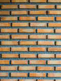 Red Brick Wall. Background and cement build Stock Images