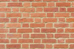 Red brick wall background closeup Royalty Free Stock Photography