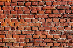 Red brick wall background. Background of brick wall grunge texture Stock Photography