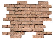 Red brick wall background isolated Stock Image