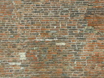 Red brick wall (background). Medieval red brick wall (background Royalty Free Stock Images