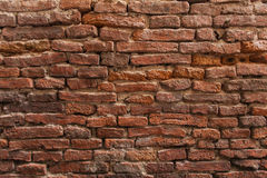 Red brick wall background. Old brick wall pattern Royalty Free Stock Photos