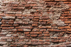 Red brick wall background. Old brick wall pattern Stock Images