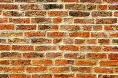 Red brick wall background. Old red brick wall texture background Stock Photography