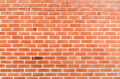 Red brick wall background. Red brick wall with one special darker brick background Royalty Free Stock Image