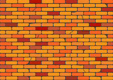 Red brick wall. Brick, wall, background, , red, seamless, pattern, tile, tiled, block, stone, new, building, backdrop, exterior, cement, brown, abstract, retro Royalty Free Stock Photography