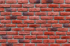 Red brick wall background texture. Royalty Free Stock Photography