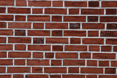 Red brick wall  background - texture pattern Stock Photos