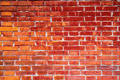 Red brick wall background textured Royalty Free Stock Photography