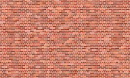 Red brick wall background. Vector illustration royalty free illustration