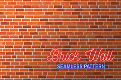 Red brick wall background. Vector illustration Royalty Free Stock Photography