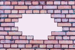 Red brick wall background with white place for text stock images