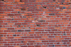 Red brick wall in Boston, Massachusetts - USA Royalty Free Stock Photography