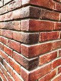 Red brick wall, brick texture background,corner wall royalty free stock photos