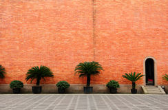 Red Brick Wall and Building Exterior Stock Photos