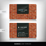Red Brick Wall Business Card. Stock Photos